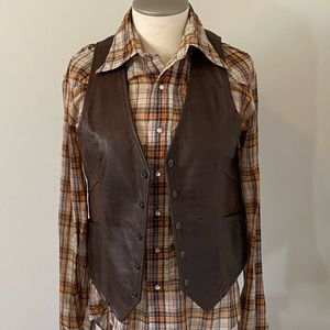 Vintage The Leather Ranch Made In Canada Vest